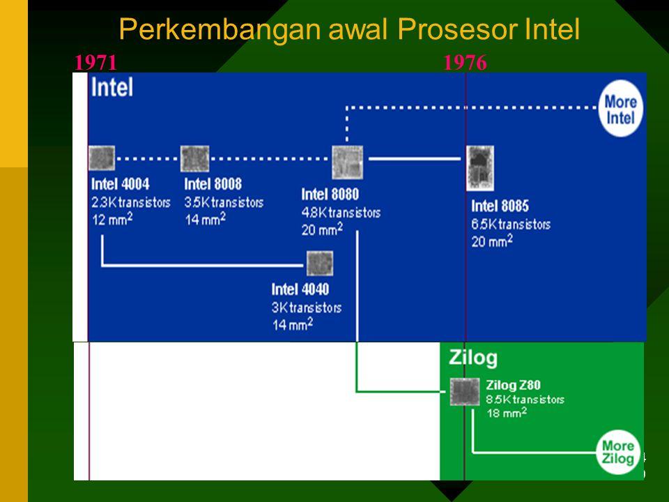 7/1/2014 39 19711976 Perkembangan awal Prosesor Intel