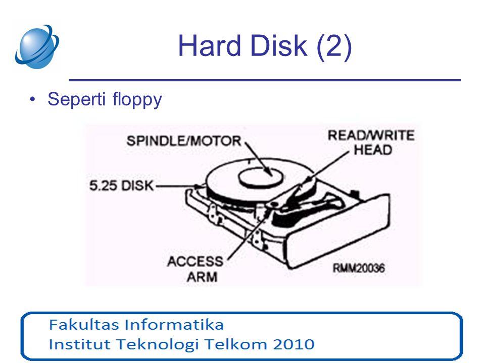 Hard Disk (2) •Seperti floppy