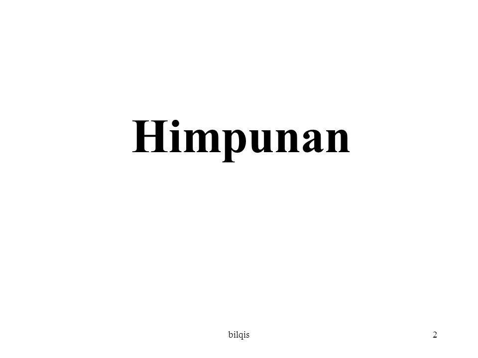 bilqis2 Himpunan