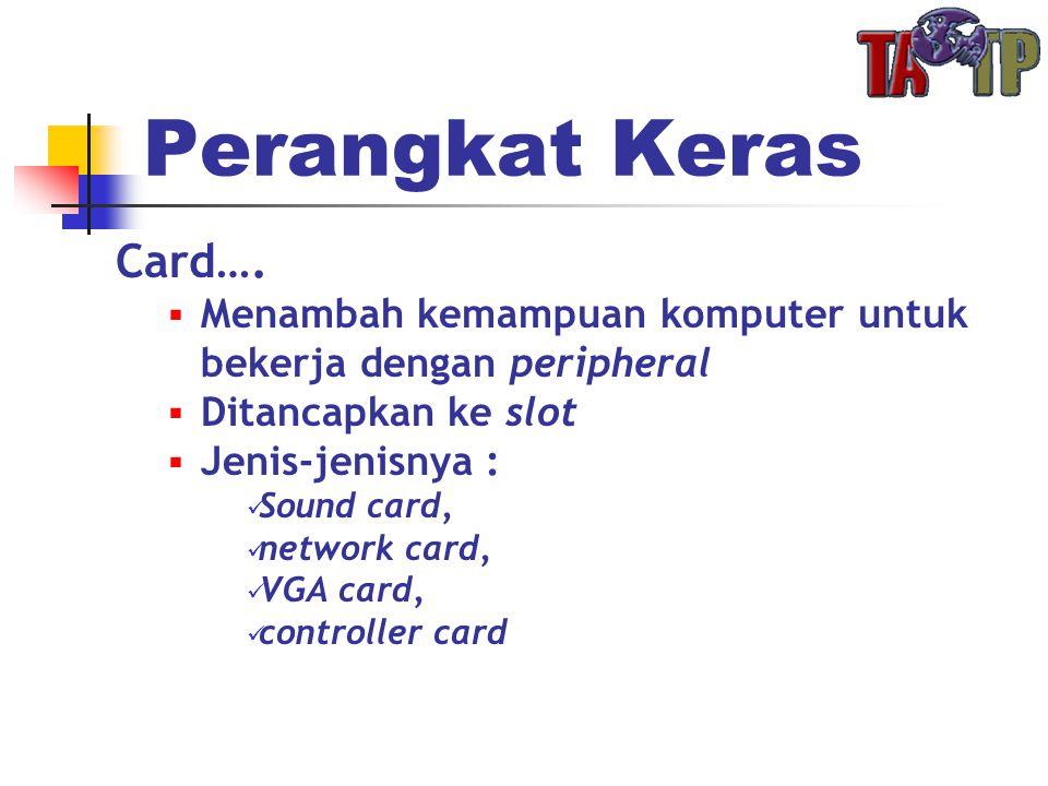 Perangkat Keras Card….