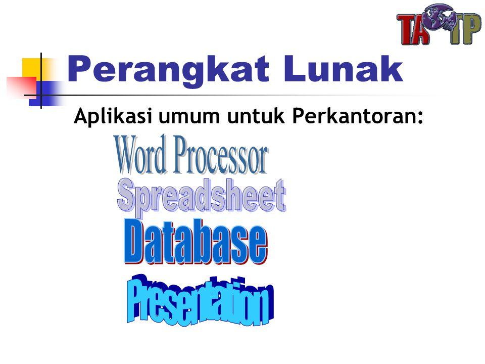Perangkat Lunak Aplikasi umum untuk Perkantoran: