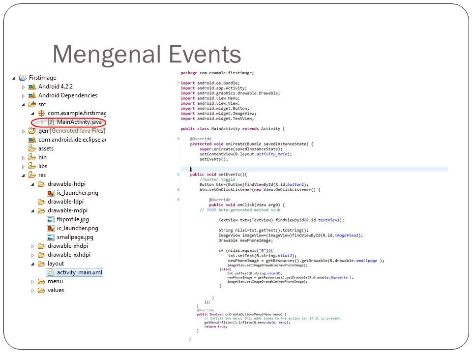 Mengenal Events