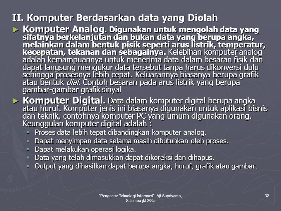 Pengantar Teknologi Informasi , Aji Supriyanto, Salemba-jkt-2005 33 ► Komputer Hybrid.