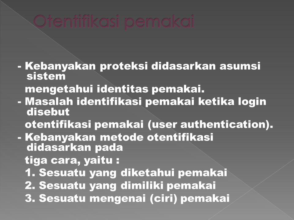 Keamanan sistem terbagi menjadi tiga, 1. Keamanan eksternal (external security).
