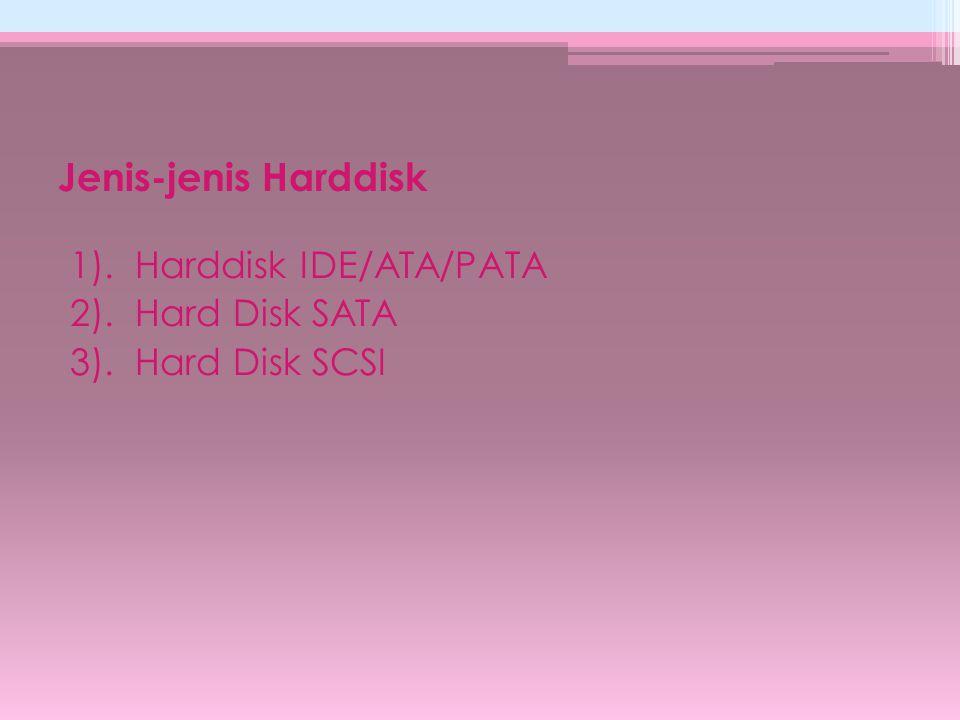 Komponen Hard Disk 1).Piringan logam (platter) Platter berfungsi sebagai temapat penyimpan data.