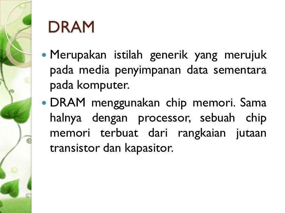 Modul Memori  Chip-chip DRAM dirangkai pada sebuah modul papan sirkuit yang dinamakan memori module.