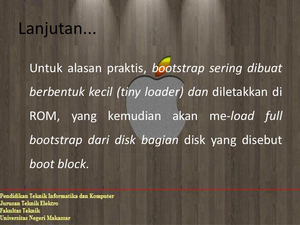 Bad Block Bad block adalah satu atau lebih sektor yang cacat atau rusak.