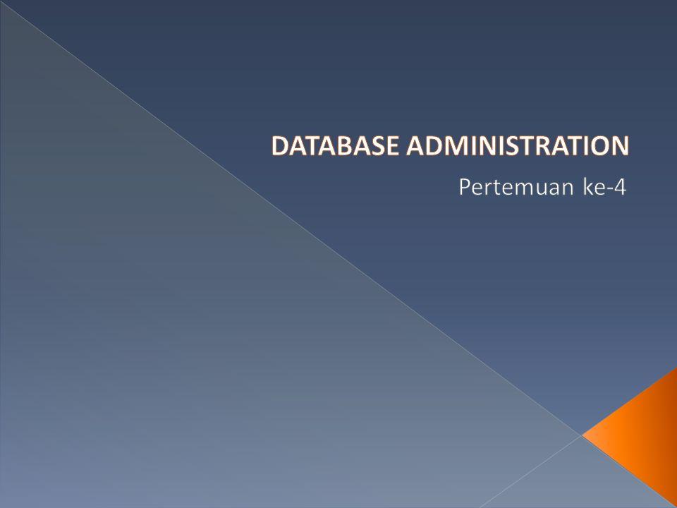  Pada kesalahan performance  meski data tetap ada  performance buruk  data tidak dapat digunakan  Misal karena index yang rusak  Bagi end user  data tidak dapat diakses  Bukan masalah unavailable  tetap harus menjadi perhatian seorang DBA