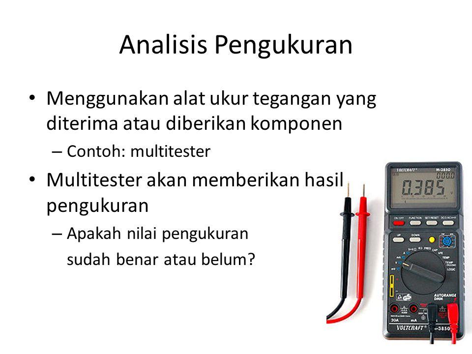 Analisis Suara (1) • Deteksi dengan mendengarkan bunyi speaker pada casing komputer • Kode suara (beep) dari BIOS memberikan informasi error yang terjadi.