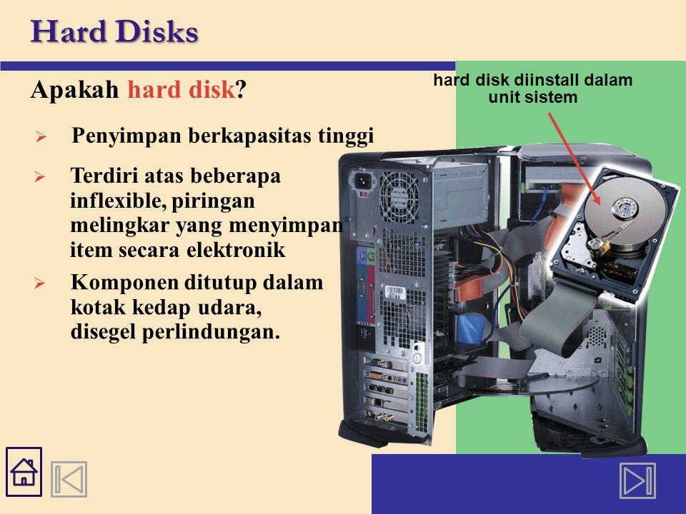 Hard Disks Apakah hard disk.