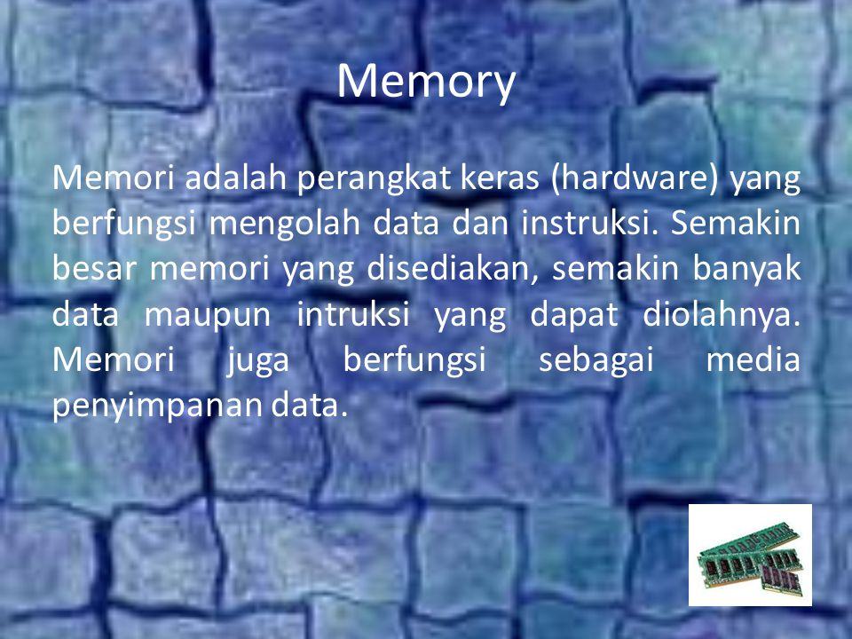 Memory Internal Memory Eksternal
