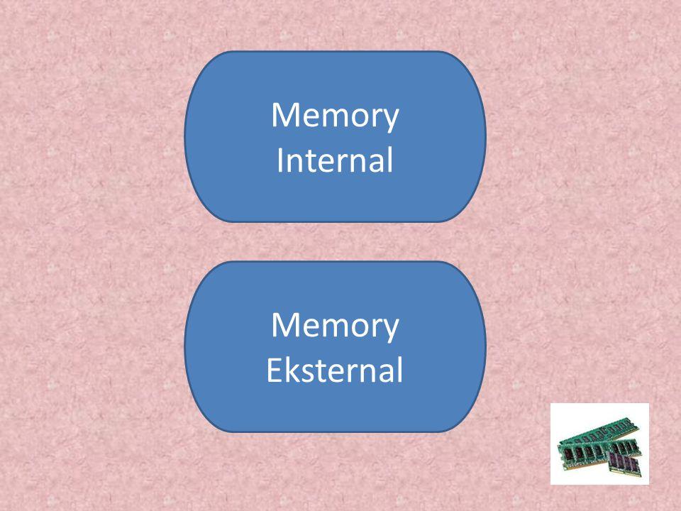 Memory Internal ROM (Read Only Memory) ROM (Read Only Memory) RAM (Random Acces Memory) X