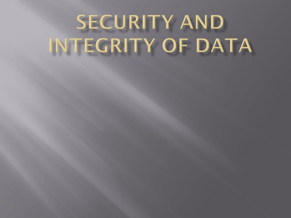  Keamanan Data bermakna perlindungan terhadap data.