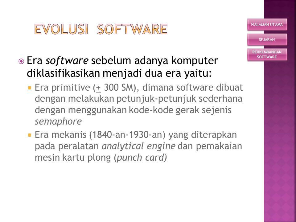  Perangkat lunak (software) adalah perangkat abstrak yang merupakan bagian utama selain hardware dari sistem komputer. Tanpa suatu software, komputer