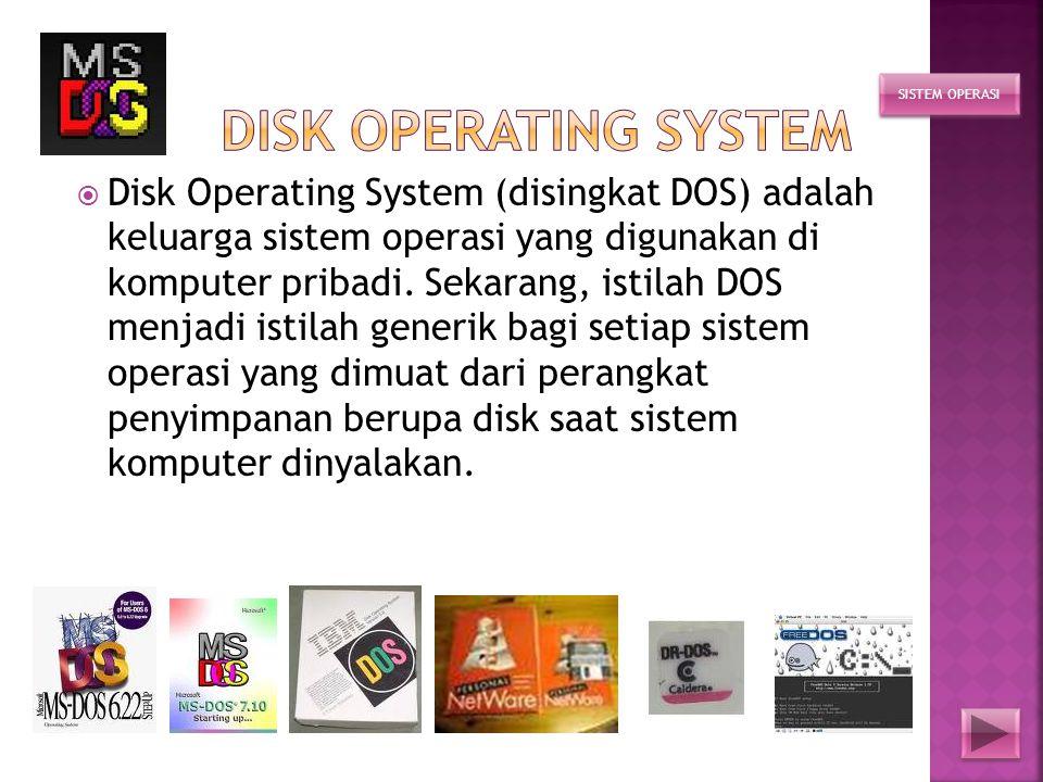 HALAMAN UTAMA SEJARAH UNIX LINUX WINDOWS DOS Mac OS