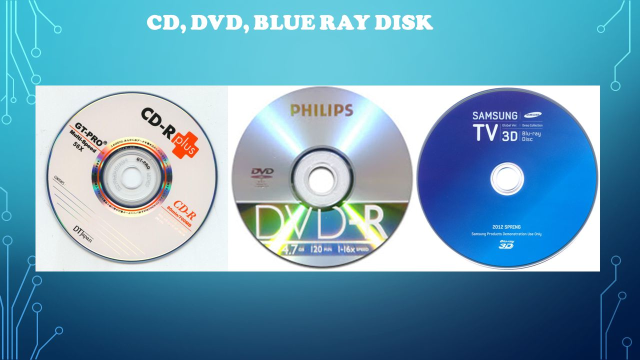 CD, DVD, BLUE RAY DISK