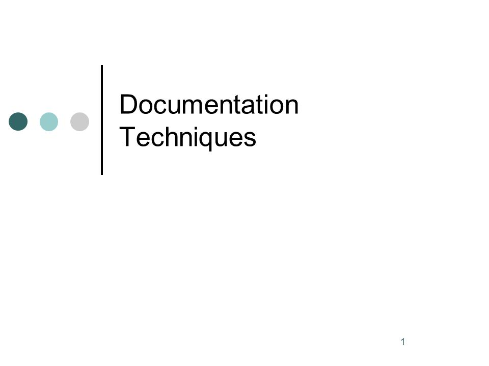 2 Introduction The chapter discusses the following three documentation tools: 1.