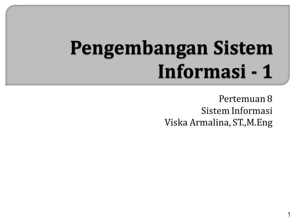 Pertemuan 8 Sistem Informasi Viska Armalina, ST.,M.Eng 1