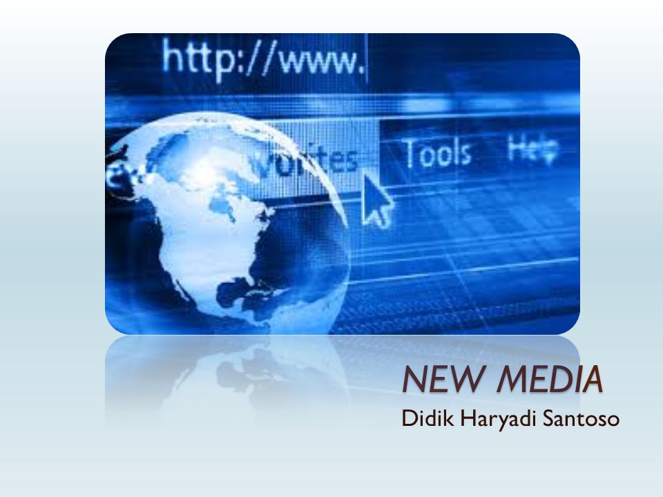 New Media MMedia which are both integrated & interactive and also use digital code (Van Dijk: 1999) CConvergence, Digital Networking, Interactivity, Many to Many Communication (Terry Flew: 2002)