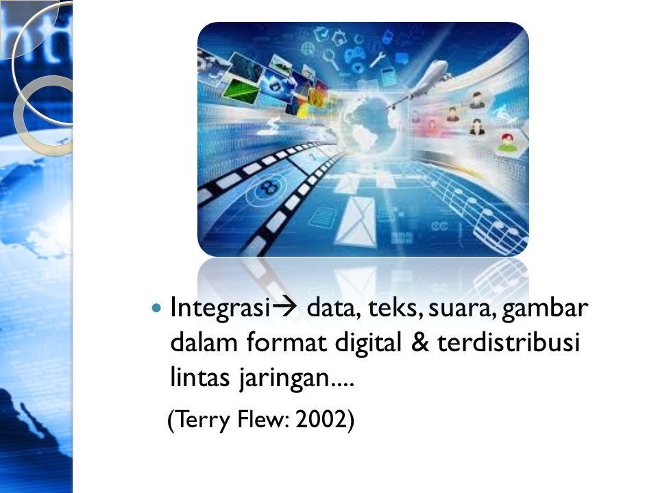 Teknologi Digital  Informasi Digital Karakteristik:  Manipulable  bisa diubah,diadaptasi sesuai kreasi & penggunaan  Networkable  sharing/pertukaran data lintas ruang & waktu  Dense  Padat, dapat disimpan di tempat yg kecil ex: compact disk, network server