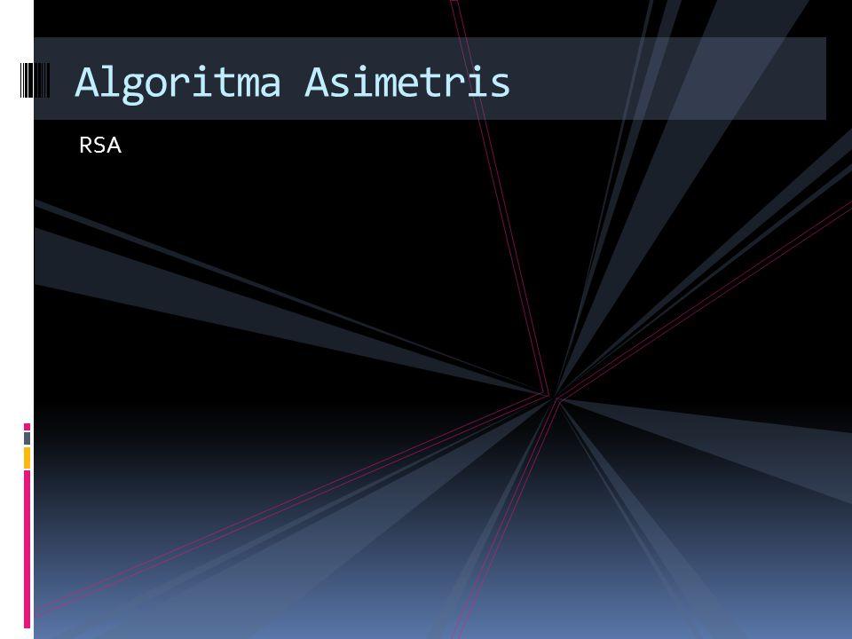 RSA Algoritma Asimetris