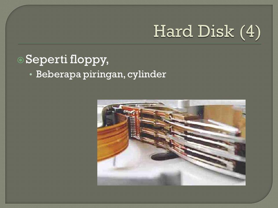  Seperti floppy, • Beberapa piringan, cylinder