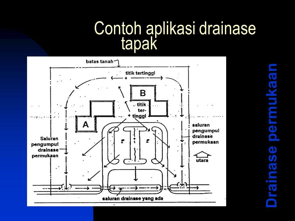 Contoh aplikasi drainase tapak Drainase permukaan