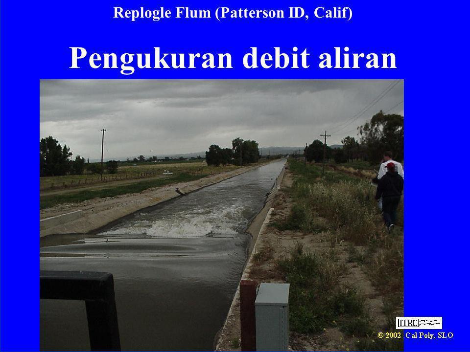 Replogle Flum (Patterson ID, Calif) Pengukuran debit aliran