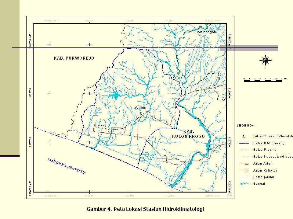 Data Hidroklimatologi  Data hidroklimatologi adalah data yang diperlukan untuk menentukan besaran penguapan rerata bulanan yang terjadi pada DAS Sera