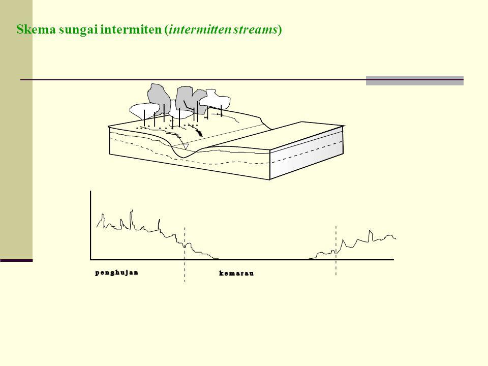 Skema sungai intermiten (intermitten streams)