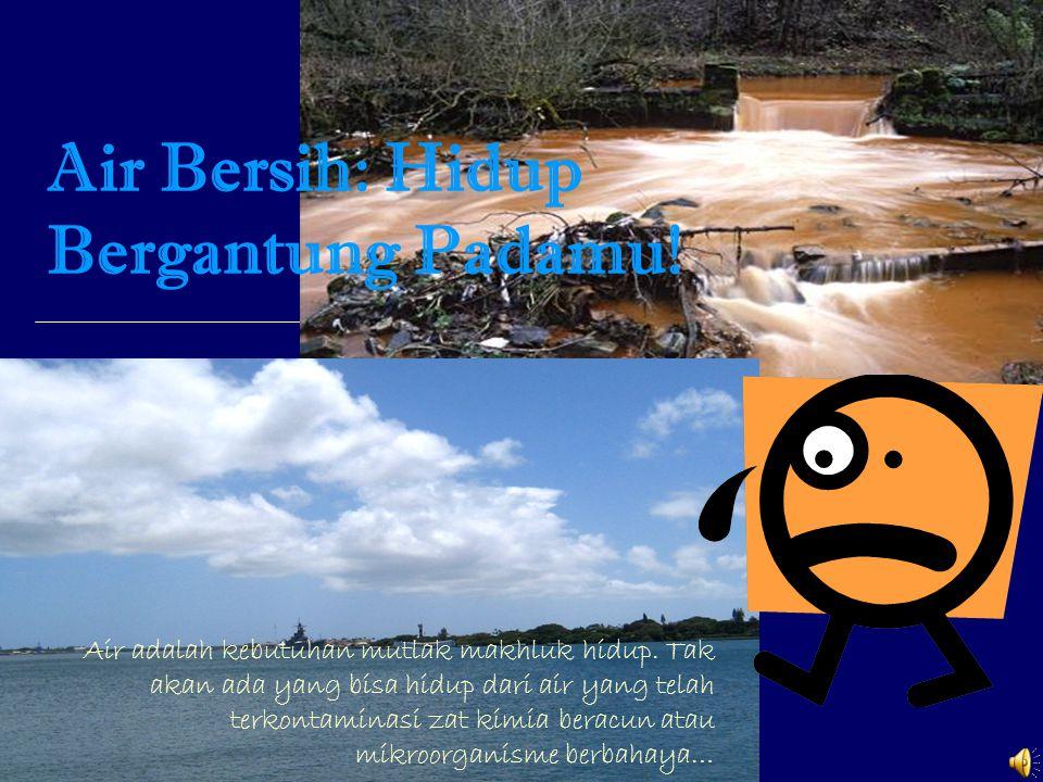 Air Bersih: Hidup Bergantung Padamu.Air adalah kebutuhan mutlak makhluk hidup.