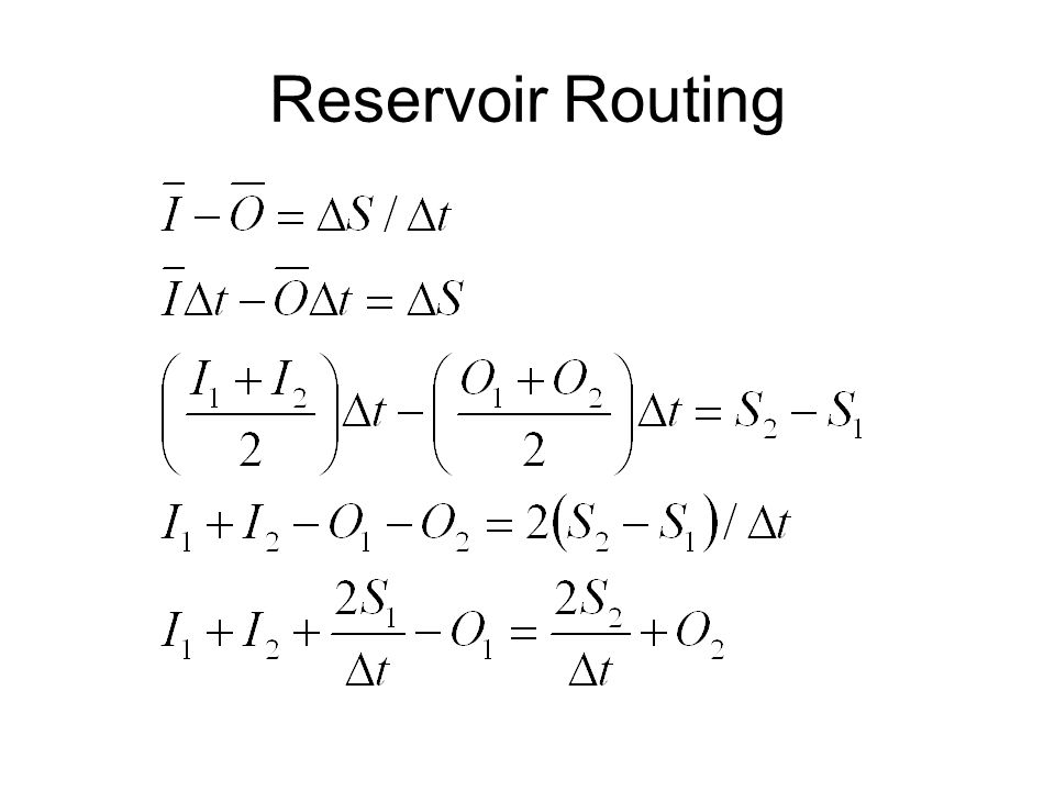 Reservoir Routing