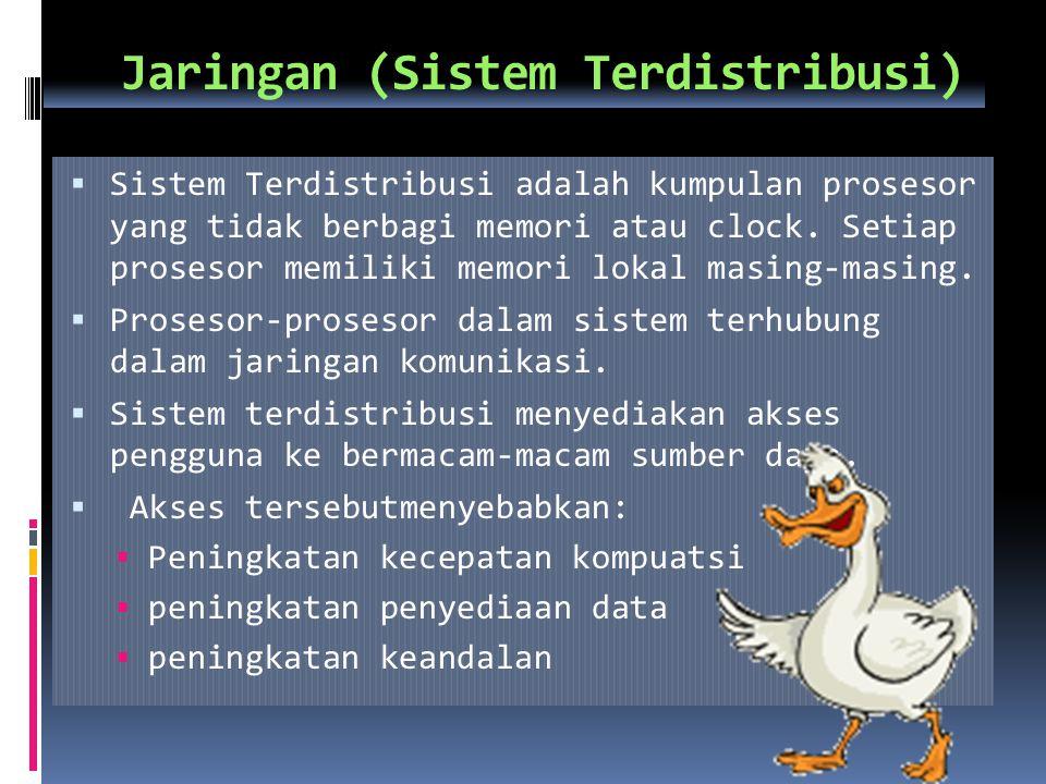 Manajemen Penyimpanan Sekunder (2)  Sistem Operasi bertanggung jawab dalam aktivitas yang berhubungan dengan manajemen penyimpanan sekunder :  manajemen ruang kosong  alokasi penyimpanan  penjadwalan disk