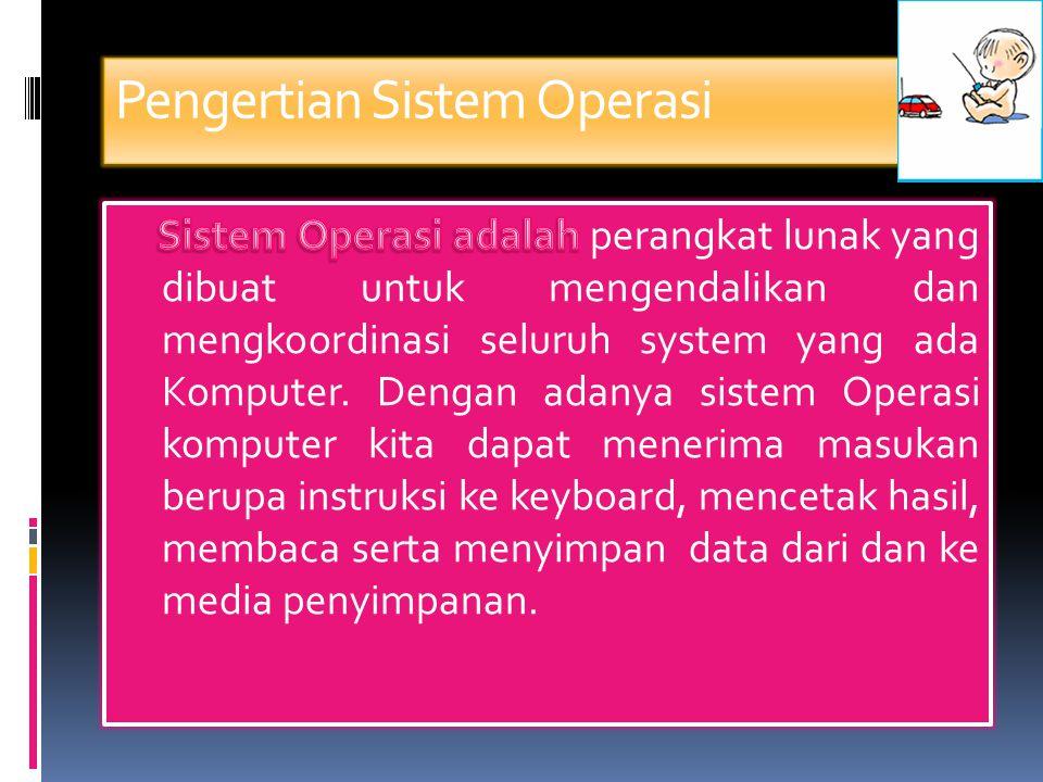 Pelayanan Sistem Operasi (2)  Komunikasi : pertukaran informasi, dapat dilaksanakan melalui shared memory atau message passing.