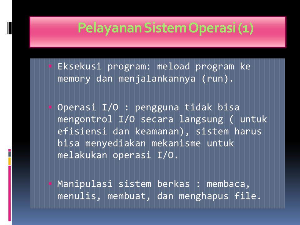 Command-Interpreter System  Sistem Operasi menunggu instruksi dari pengguna (command driven).  Program yang membaca instruksi dan mengartikan contro