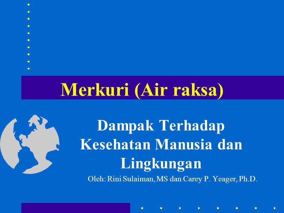 Merkuri (Air raksa) Dampak Terhadap Kesehatan Manusia dan Lingkungan Oleh: Rini Sulaiman, MS dan Carey P. Yeager, Ph.D.