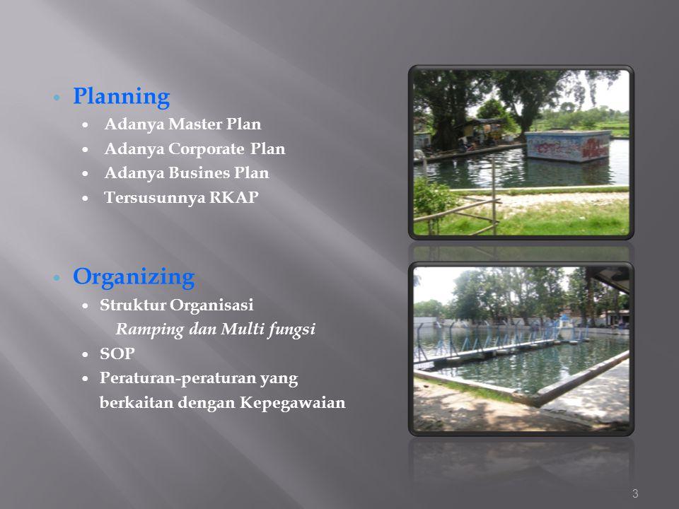  Planning  Adanya Master Plan  Adanya Corporate Plan  Adanya Busines Plan  Tersusunnya RKAP  Organizing  Struktur Organisasi Ramping dan Multi