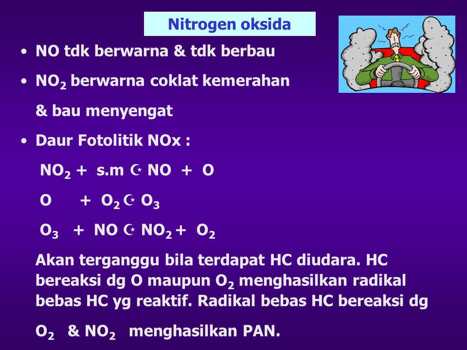 Dampak SOx bagi Kesehatan •Efek pada tumbuhan : nekrosis •Efek pada benda mati : merusak karena bersifat korosif •Efek thd manusia akan mempengaruhi s