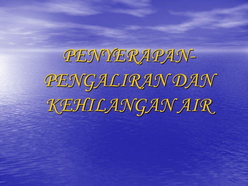 PENYERAPAN- PENGALIRAN DAN KEHILANGAN AIR