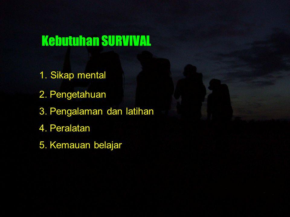 Bahaya-bahaya dalam SURVIVAL 1.Ketegangan dan panik 2.