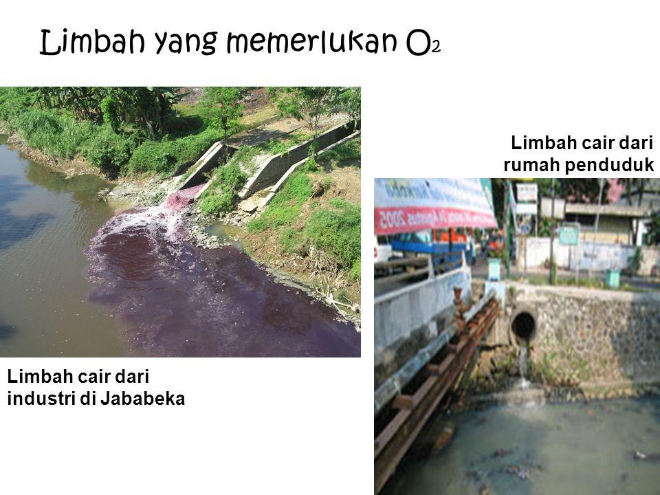 Limbah yang memerlukan O 2 Limbah cair dari industri di Jababeka Limbah cair dari rumah penduduk