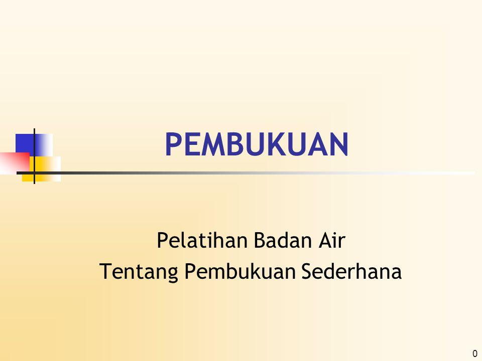 1 Struktur Organisasi Badan Air  Gambaran Struktur Organisasi Sederhana Badan Air  Fungsi dan Peranan Masing-masing Anggota dalam Badan Air