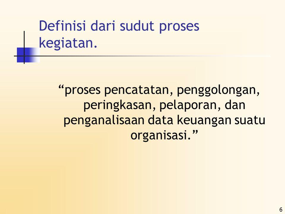 7 Proses Akuntansi Laporan keuangan adalah hasil dari proses akuntansi.