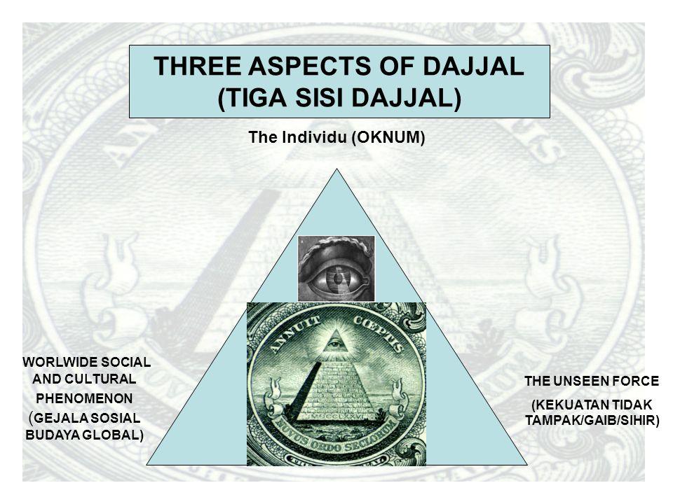 WORLWIDE SOCIAL AND CULTURAL PHENOMENON ( GEJALA SOSIAL BUDAYA GLOBAL) THE UNSEEN FORCE (KEKUATAN TIDAK TAMPAK/GAIB/SIHIR) The Individu (OKNUM) THREE