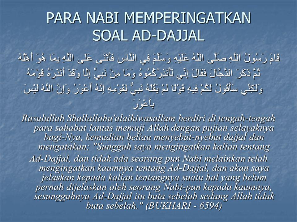 WORLWIDE SOCIAL AND CULTURAL PHENOMENON ( GEJALA SOSIAL BUDAYA GLOBAL) THE UNSEEN FORCE (KEKUATAN TIDAK TAMPAK/GAIB/SIHIR) The Individu (OKNUM) THREE ASPECTS OF DAJJAL (TIGA SISI DAJJAL)