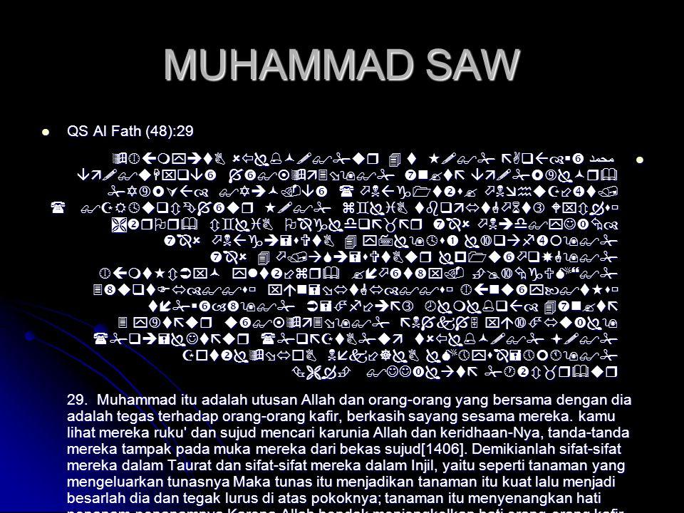 MUHAMMAD SAW  QS Al Fath (48):29  محمد               