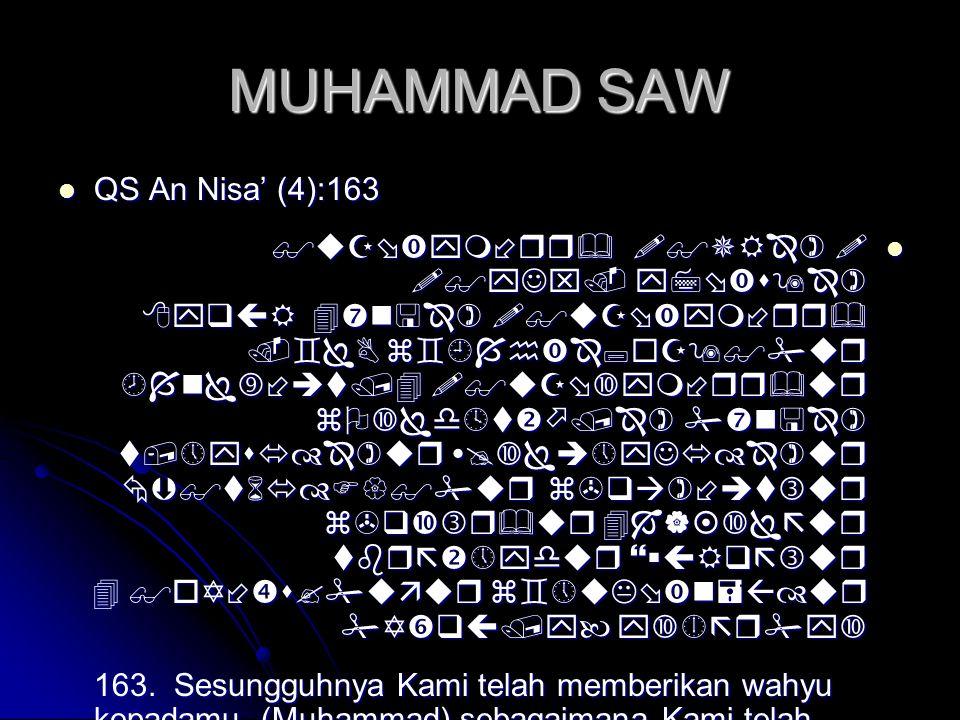MUHAMMAD SAW  QS An Nisa' (4):163              