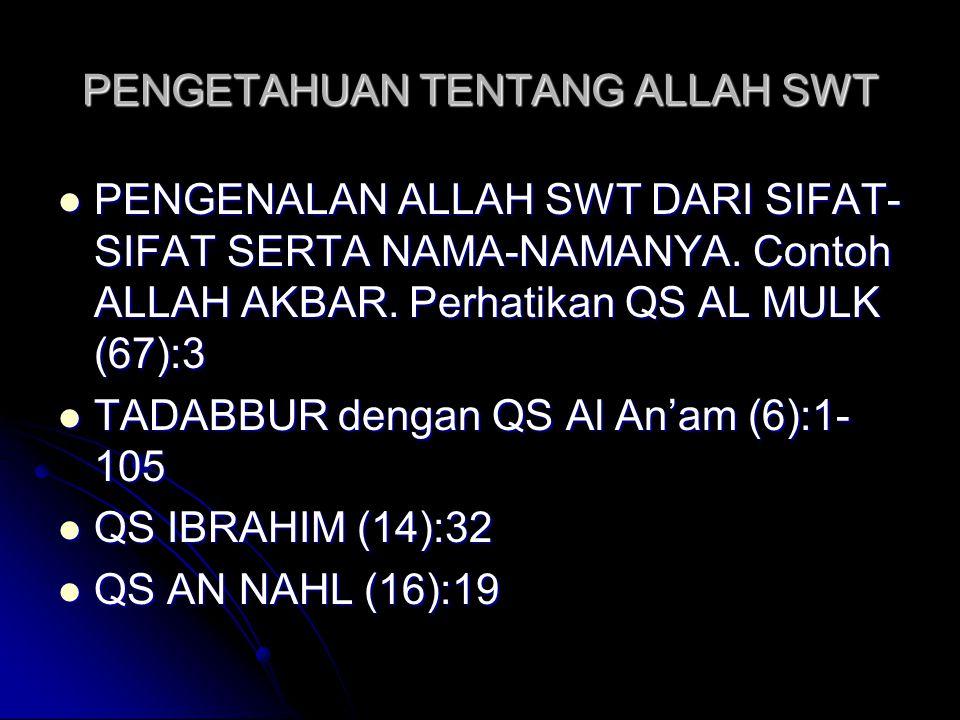  QS AN NAHL (16):48,65,70,72,78,80,81  QS AL KAHFI (18):26  QS AL AMBIYA' (21):22  QS AN NUR (24):35,45  QS AN NAML (27):26,65  QS AL ANKABUT (29):62  QS AR RUM (30):11,40,48,54  QS AS SAJADAH (32):4