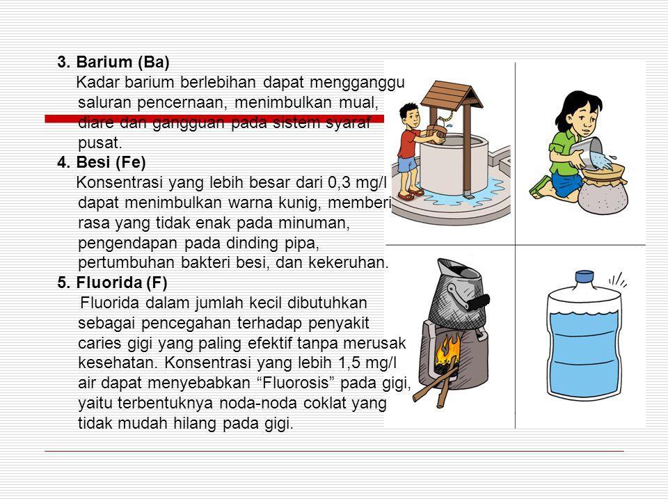 B. Parameter Kimia. 1. Air raksa (Hg). Hg yang diabsorpsi akan masuk ke dalam darah, ginjal, hati, limpa dan tulang. Exkresi lewat urine,faeces, kerin