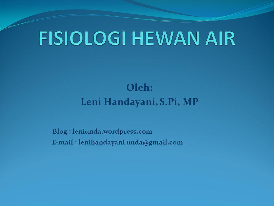 Oleh: Leni Handayani, S.Pi, MP Blog : leniunda.wordpress.com E-mail : lenihandayani unda@gmail.com